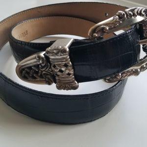 Brighton vintage black belt M 33